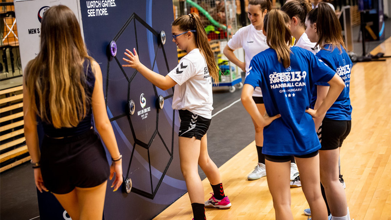 We visited international handball camps with our adventure park